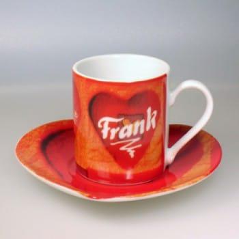 "Espressotasse""Herz"" inkl. Namensgravur"