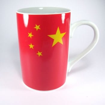 Flaggetasse China