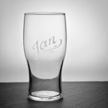 Bierglas Pint mit Gravur