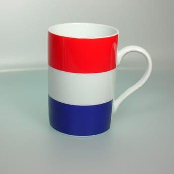 Flaggetasse Niederlande mit Gravur
