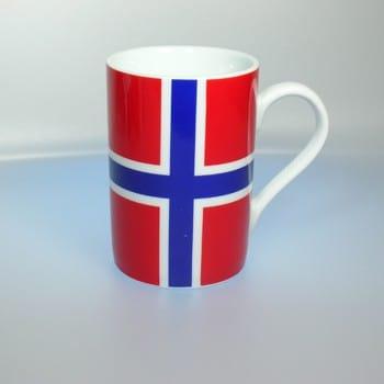 Tasse Norwegen Flagge Gravur