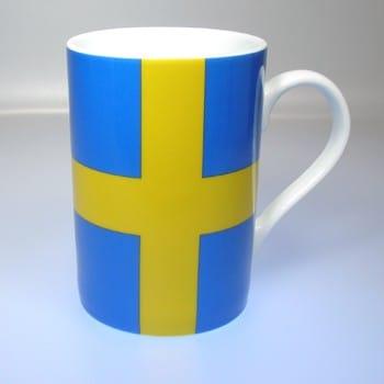 Flaggetasse Schweden mit Gravur