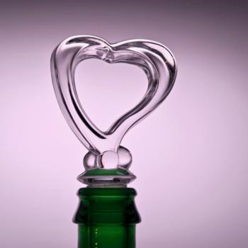 Flaschenverschluss Glas in Herzform
