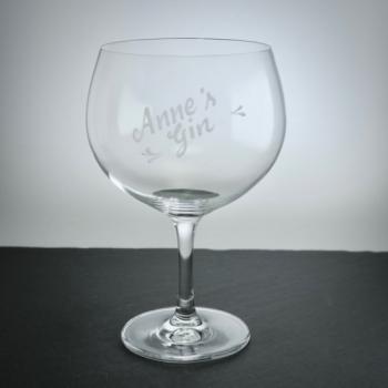 """Gn Tonic Glas""""Bar Spezia"""" Schott Zwiesel mit Namensgravur"""