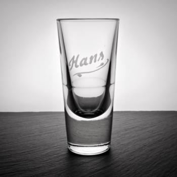"Schnapsglas""Bistro"" mit Namensgravur"