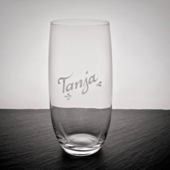 Trinkglas Donato mit Namensgravur