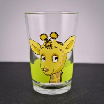 Kinderglas Giraffe mit Namensgravur