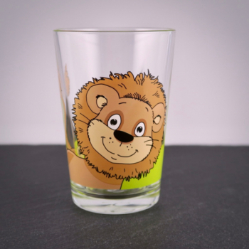 Kinderglas Löwe mit Namensgravur