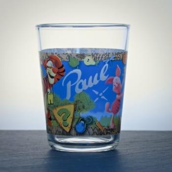 Kinderglas mit Namen graviert