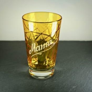"Longdrinkglas Dolomiti mit ""Mama"" graviert"