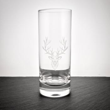 Longdrinkglas Paris mit Hirsch graviert