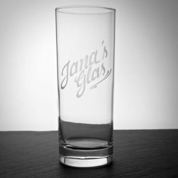 Longdrink-Glas mit Namensgravur inklusive