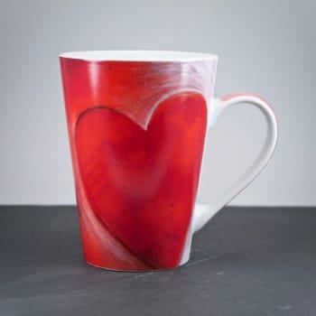 Porzellantasse Big Herz mit personalisierter Gravur