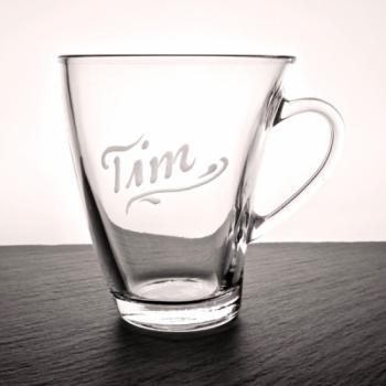 Teeglas Cascada mit Namen graviert