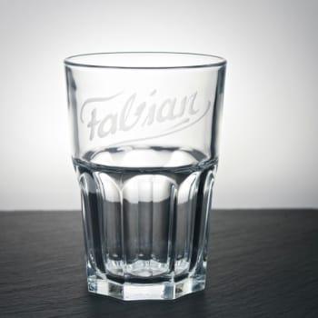 Trinkglas Klar 300ml mit Namen graviert