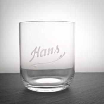 Trinkglas Light mit Namen graviert