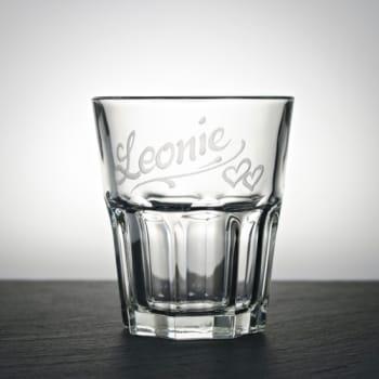 Trinkglas Klar 200 ml mit Namen graviert
