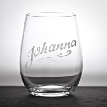 "Wasserglas Donato ""Aqua"" mit Namensgravur personalisiert"