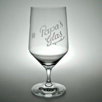 "Wasserglas""Pure"" mit Gravur inklusive"