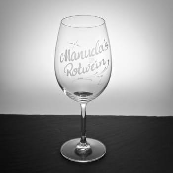 """Rotweinglas""""Brunello""""mit Gravur"""