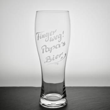 """Weizenbierglas """"München"""" 0,5 Liter von Flirt by R&B mit Textgravur personalisiert"""