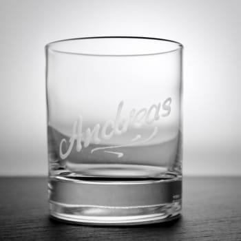 "Whisky-Tumbler ""Linely"" 180 ml mit Namensgravur"