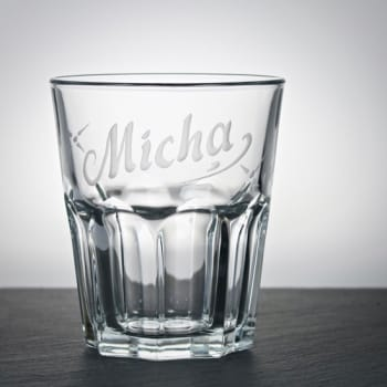 Whiskyglas Klar 300 ml mit Namensgravur