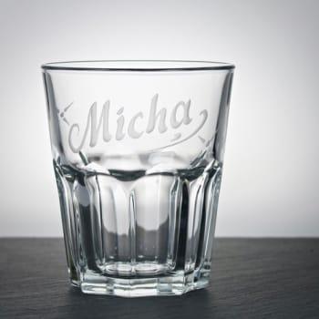 Whiskyglas Klar 300 ml mit Namensgravur