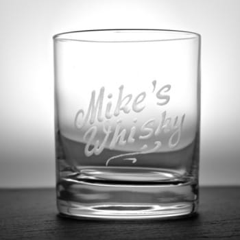 "Whisky-Tumbler ""Linely"" mit Namensgravur personalisiert"