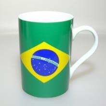Flaggetasse Brasilien