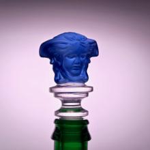 Weinverschluss Medusa Blau