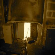 Glasschmelzofen 1200 Grad Heiß