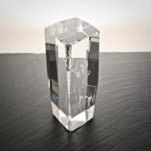 Kristallglas Pokal mit Hirscvh-Motiv graviert