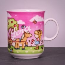 Kindertasse Lilly mit Namen graviert