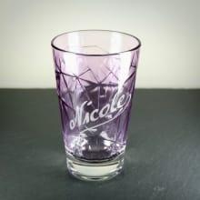 Longdrinkglas Violett mit Gravur