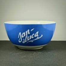 """Müslischüssel""""Vera"""" mit Gravur Blau"""