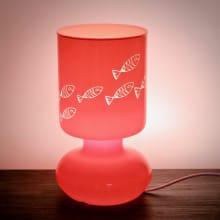 """Nachttischlampe mit maritimer Gravur """"Orange"""""""