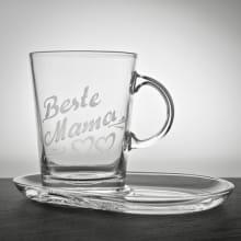 Teeglas Konisch 390 ml mit Untertasse