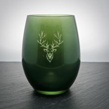 """Teelichtglas """"Hirsch"""" Grün"""