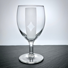 "Weinglas ""Napoli"" mit Poker Caro Motiv graviert"