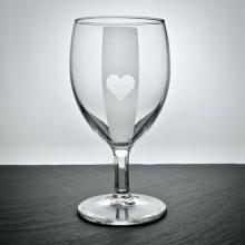 """Weinglas """"Napoli"""" mit Poker Herz Motiv graviert"""